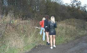 A Bunch Of Teen Chicks Go Out For Some Outdoor Panties Peeing