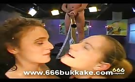 Insane kinky pissing orgy with hot European girls drinking piss