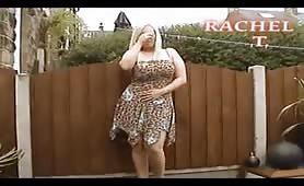 Naughty blonde housewife loves outdoor panties wetting