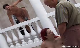 Hot pissing threesome takes to the great outdoors